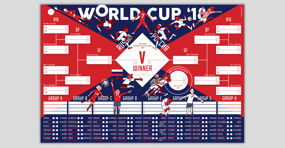 Mark Long – World Cup 2018 Poster