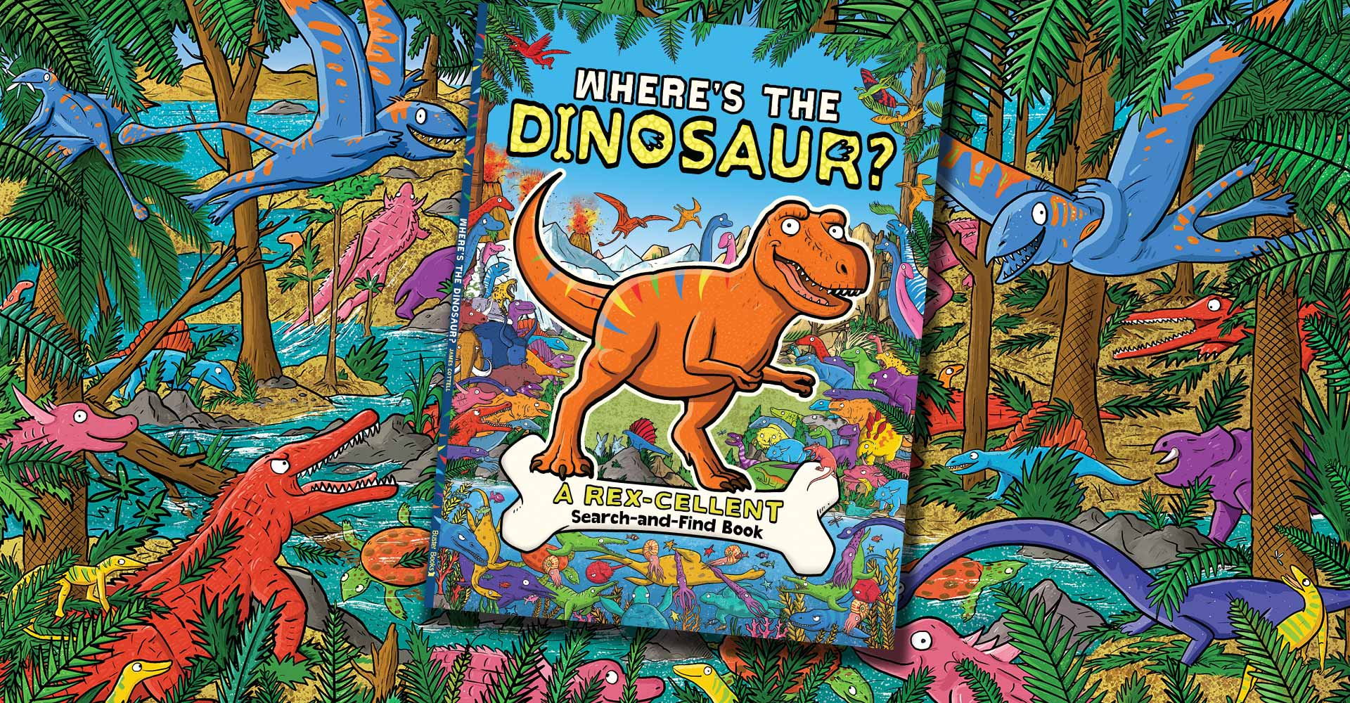 James Cottell – Where's the Dinosaur – new book with Buster books