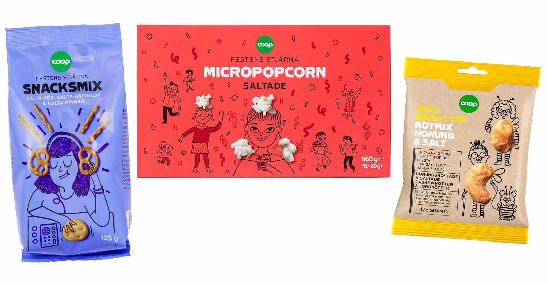 Gemma Correll – COOP Sweden new snacks range